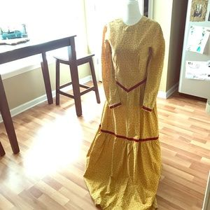 Dresses & Skirts - Floor length yellow and red prairie dress
